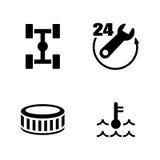 Servicio del coche Iconos relacionados simples del vector Fotografía de archivo libre de regalías