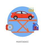 Servicio del coche y concepto de mantenimiento Imagenes de archivo