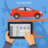 Servicio del coche y concepto de mantenimiento libre illustration