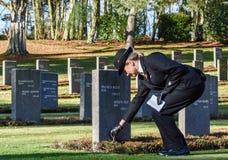 Servicio del día de la conmemoración, caza de Cannock Imagenes de archivo