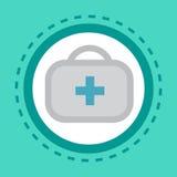 Servicio del hospital de las clínicas de la atención sanitaria del concepto de Kit Icon Online Consultation Button de los primero Foto de archivo