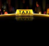 Servicio del taxi Foto de archivo