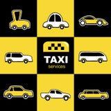 Servicio del taxi Fotos de archivo