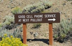Servicio del teléfono celular Fotografía de archivo