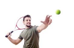 Servicio del tenis Imagen de archivo libre de regalías