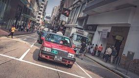 Servicio del transporte del taxi en Hong Kong foto de archivo