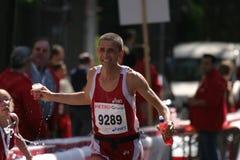 Servicio en el maratón Foto de archivo libre de regalías