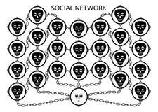 Servicio en red social Foto de archivo