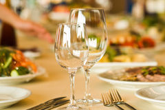 Servicio en restaurante Fotografía de archivo libre de regalías