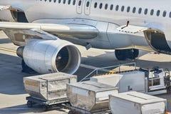 Servicio en tierra de los aviones Imagen de archivo