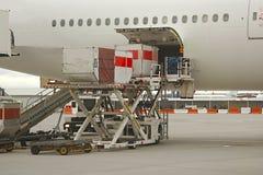 Servicio en tierra de los aviones Fotos de archivo
