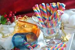Servicio espiral de la oblea del arco iris en vidrio Imágenes de archivo libres de regalías