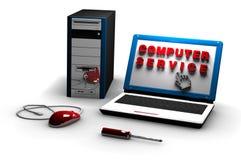 Servicio informático ilustración del vector