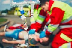 Servicio médico de la emergencia Fotos de archivo libres de regalías