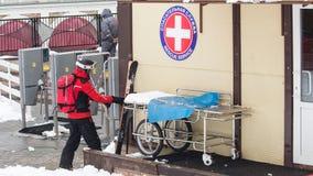Servicio médico en las montañas en Sochi Imagen de archivo