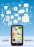 Servicio móvil de la nube Fotos de archivo libres de regalías