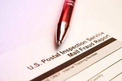 Servicio postal del examen Imagenes de archivo