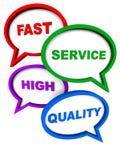 Servicio rápido de alta calidad stock de ilustración