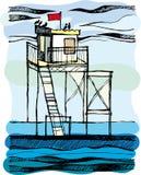 Servicio salvavidas en el mar. fotografía de archivo libre de regalías