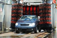Servicio sin contacto de la limpieza del coche del automóvil Fotografía de archivo