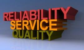 Servicio y calidad de la confiabilidad ilustración del vector
