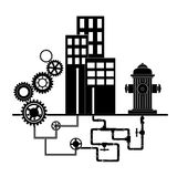 Servicios comunales stock de ilustración