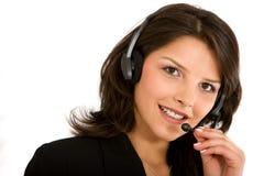 Servicios de atención al cliente representativos Imagen de archivo libre de regalías
