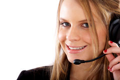 Servicios de atención al cliente representativos Imagen de archivo