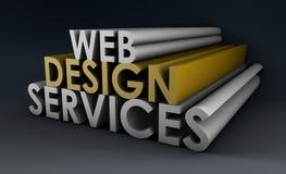Servicios de diseño de Web ilustración del vector