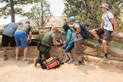 Servicios de emergencia en Bryce Canyon National Park Imagen de archivo