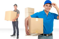 Servicios de entrega profesionales Imagen de archivo libre de regalías
