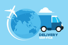 Servicios de entrega a través del mundo Fotografía de archivo libre de regalías