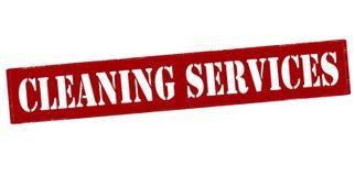 Servicios de la limpieza stock de ilustración