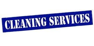 Servicios de la limpieza ilustración del vector