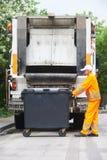 Servicios de reciclaje urbanos de la basura y de la basura foto de archivo libre de regalías