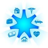 Servicios de seguro Imagen de archivo libre de regalías