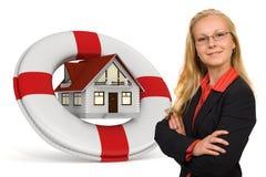 Servicios de seguro de la casa Fotografía de archivo libre de regalías