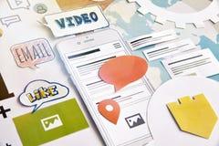 Servicios de Smartphone Imágenes de archivo libres de regalías