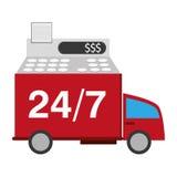 24 servicios de transporte de 7 camiones Fotografía de archivo libre de regalías