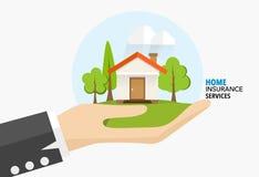 Servicios a empresas caseros del seguro Concepto del ejemplo del vector de Imagen de archivo libre de regalías
