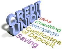 Servicios a empresas financieros de la unión de crédito Imagen de archivo libre de regalías