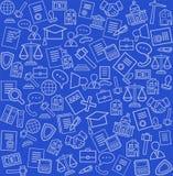 Servicios jurídicos, fondo azul, inconsútil Imagen de archivo