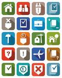Servicios jurídicos coloreados de los iconos Foto de archivo libre de regalías