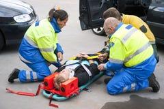 Servicios médicos de la emergencia Imagen de archivo libre de regalías