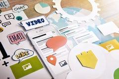 Servicios móviles Fotografía de archivo libre de regalías