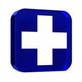 Servicios médicos azules Imagen de archivo libre de regalías