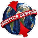 Servicios mundiales de la logística libre illustration