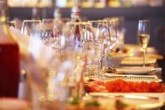 Servido para un vector de banquete Imagen de archivo
