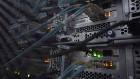 Servidor óptico de trabajo Ligts llevados centelleo almacen de video
