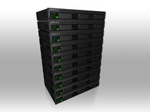 servidor 3d stock de ilustración